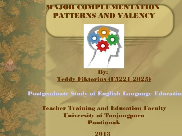 MAJOR COMPLEMENTATIONPATTERNS AND VALENCYBy: Teddy Fiktorius (F5221 2025)Postgraduate Study of English Language EducationT...
