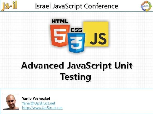 Advanced java script unit testing - js-il.com