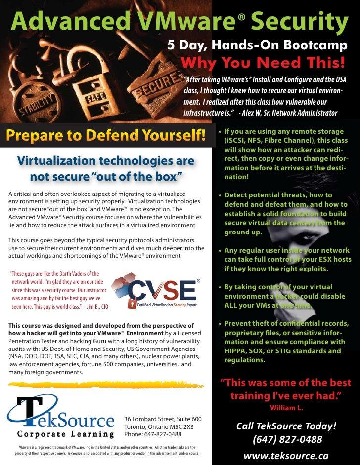 Advanced VMware® Security                                                                                                 ...