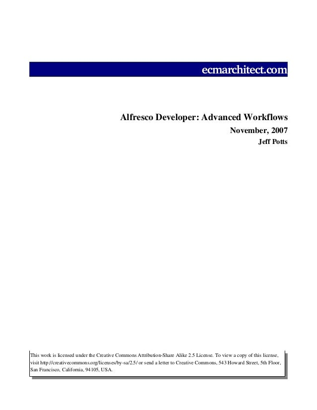 Advanced workflow-article (slideshare - tests)