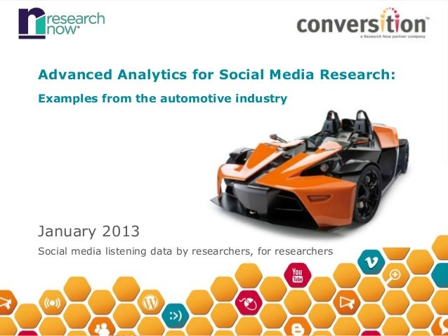 Advanced Analytics with Social Media Data