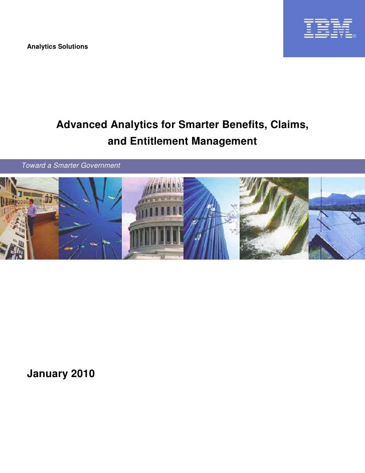 Analytics Solutions               Advanced Analytics for Smarter Benefits, Claims,                        and Entitlement ...