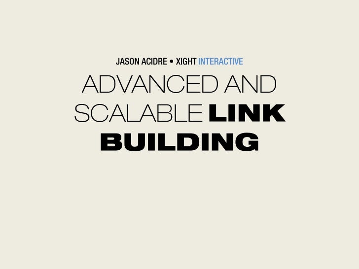Advanced and scalable link building - Iloilo SEO Conference