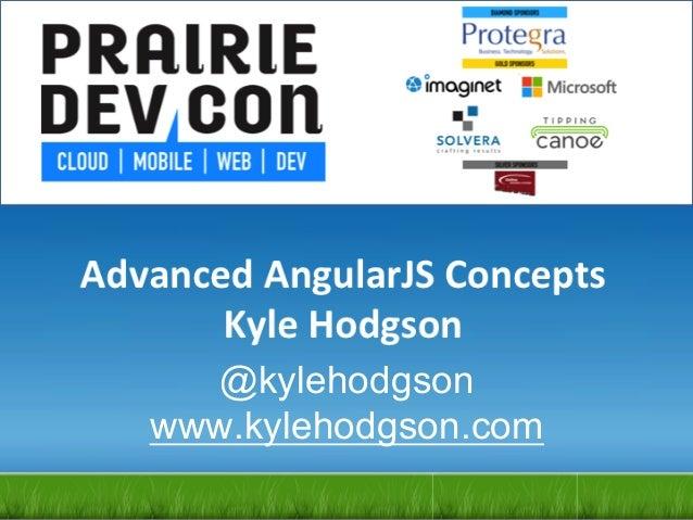 Advanced AngularJS Concepts