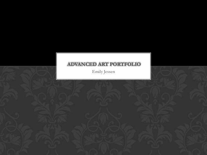 Advanced art portfolio