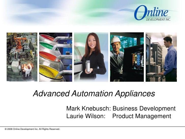 Advanced Automation Appliances 6.21.09