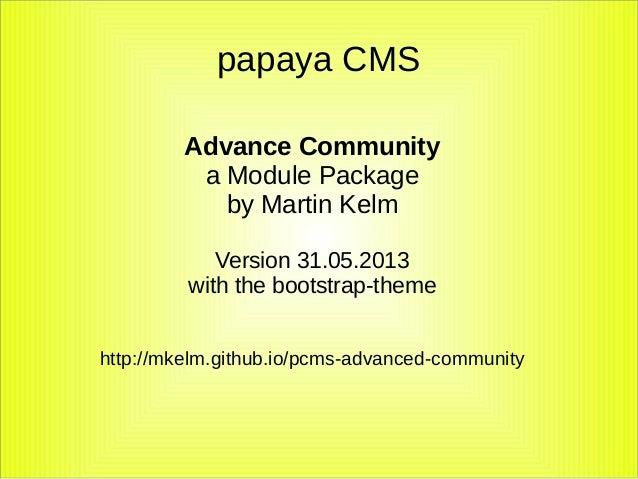 papaya CMS Advanced Community