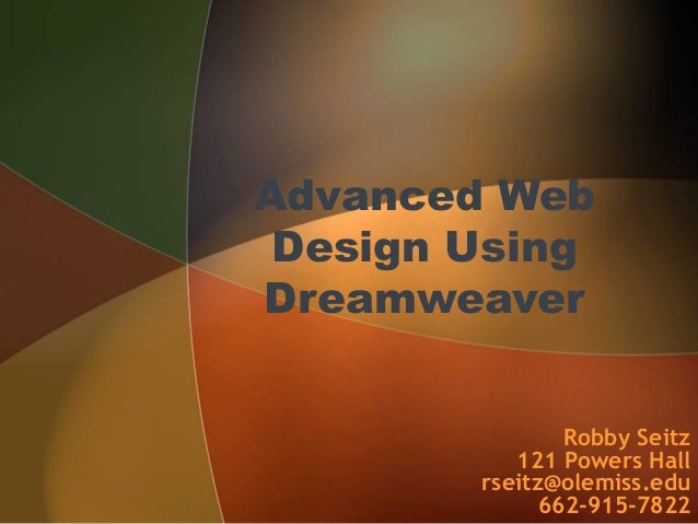Advanced dreamweaver