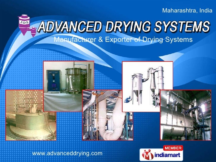Maharashtra, India Manufacturer & Exporter of Drying Systems