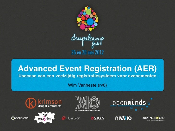 Advanced event registration
