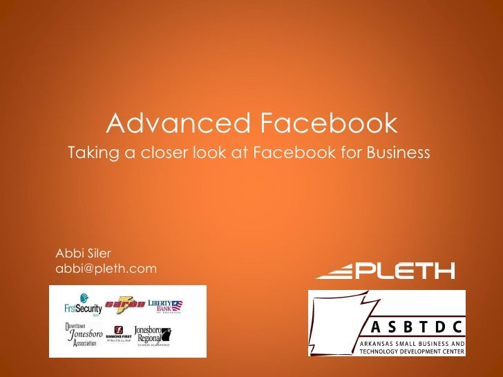 Advanced Facebook Marketing Seminar