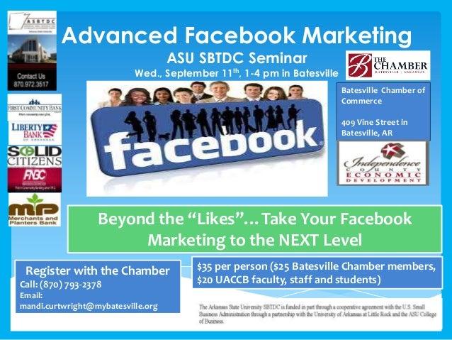Advanced facebook marketing seminar batesville