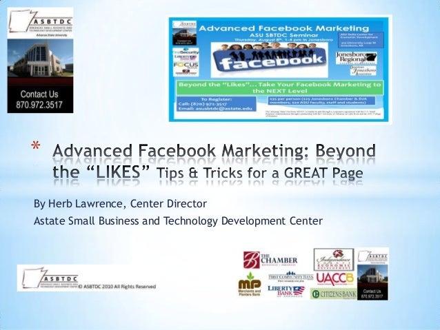 Advanced facebook seminar batesville 2013