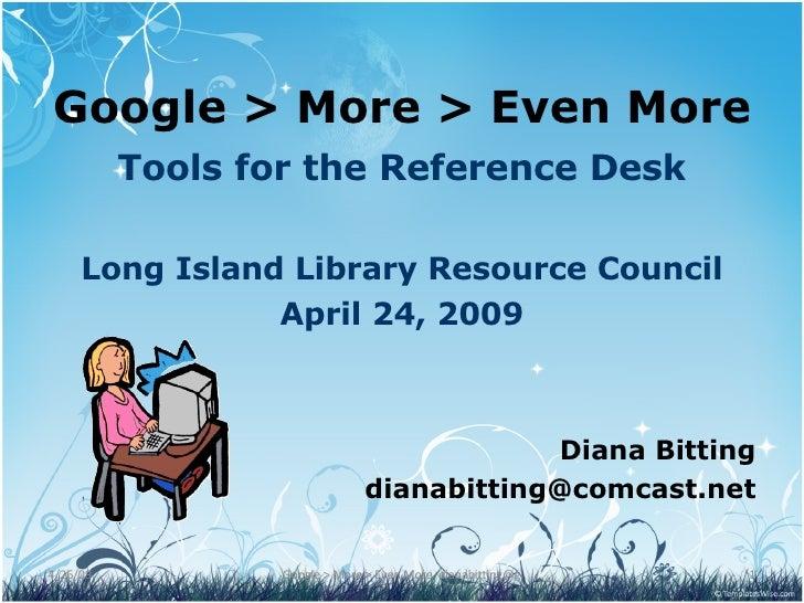 Advanced Google Ref Tools Lilrc Bitting