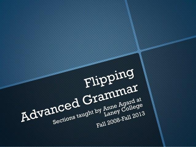 Advanced grammar data