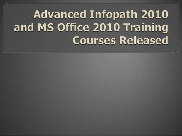 pdtraining has just released several new advanced training courses for Microsoft Office 2010 applications – view our publi...