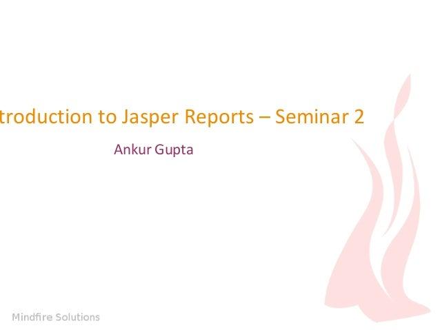 Advanced Jasper Reports