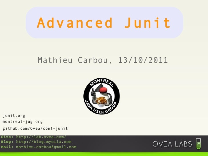 Advanced junit and mockito