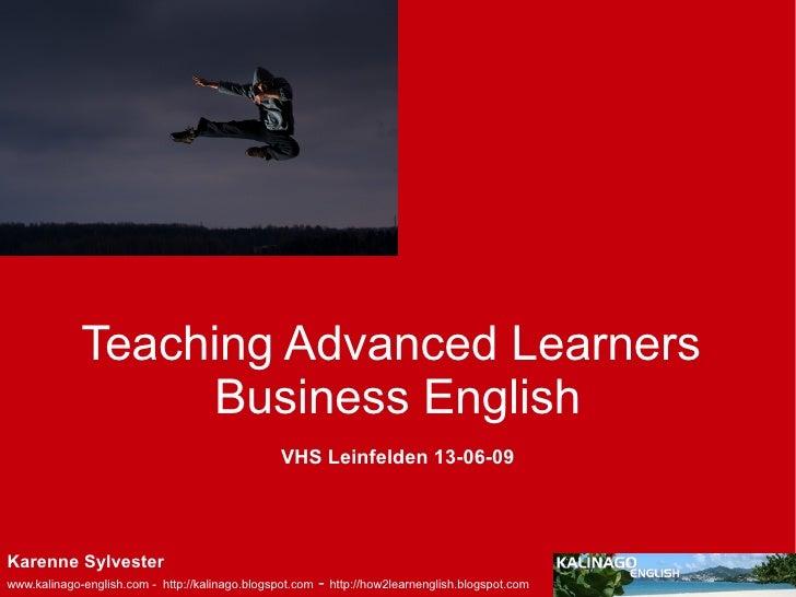 Teaching Advanced Learners Business English