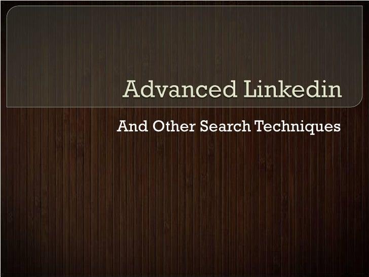 Advanced linkedin workshop