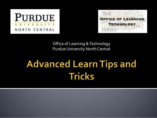 Advanced BlackBoard Learn Tips