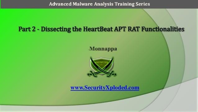 Advanced Malware Analysis Training Series  www.SecurityXploded.com