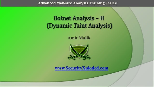 Advanced Malware Analysis Training Session 3 - Botnet Analysis Part 2
