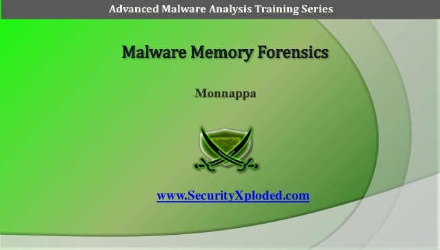www.SecurityXploded.com Advanced Malware Analysis Training Series