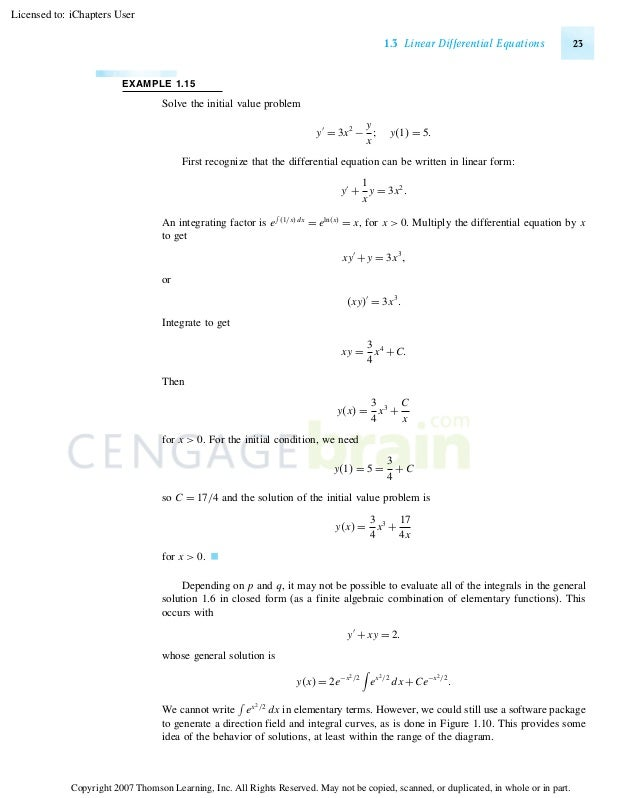 Examples of Math Equations Equations 23 Example 1.15