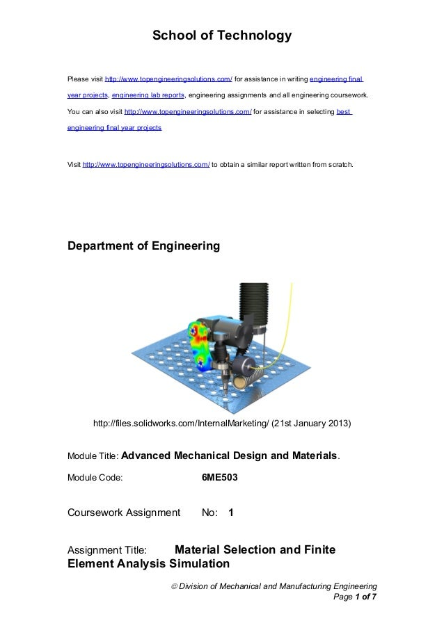 School of Technology Please visit http://www.topengineeringsolutions.com/ for assistance in writing engineering final year...