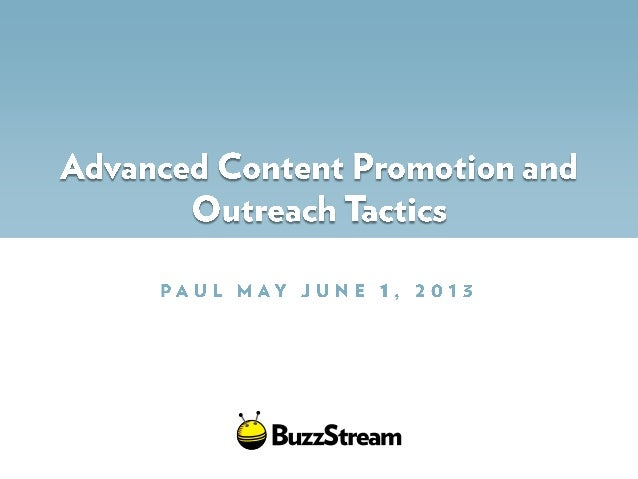 Advanced outreach for content marketing