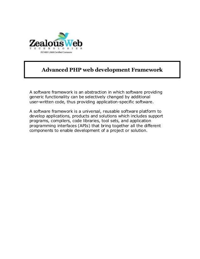 Advanced PHP web development Framework