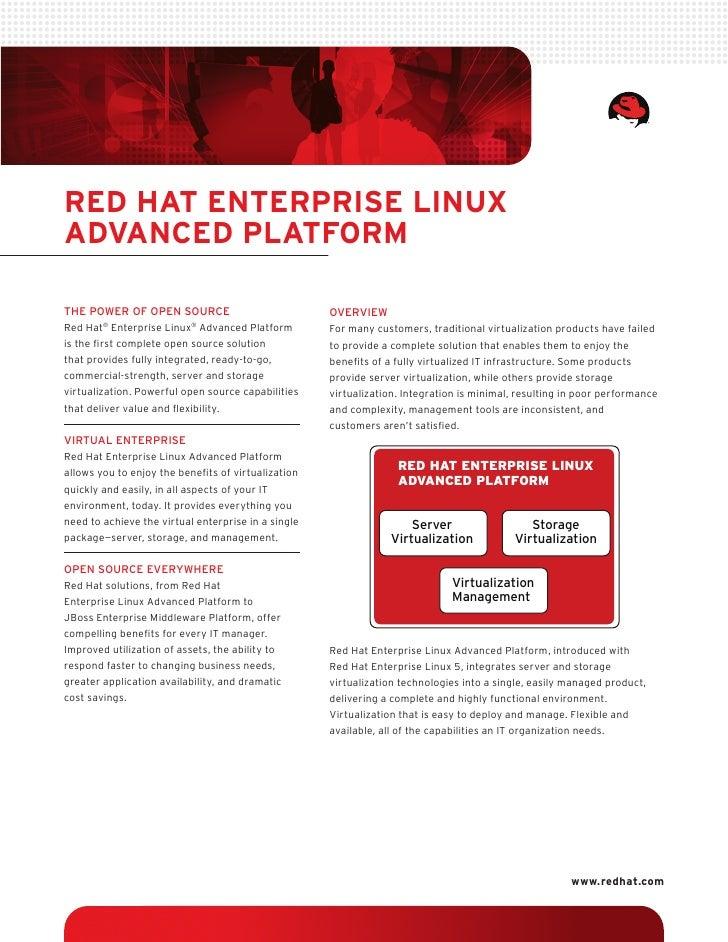 Red Hat enteRpRise Linux advanced pLatfoRm  The power of open source                             oVerView Red Hat® Enterpr...