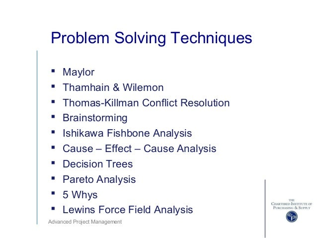 problem solving techniques essay