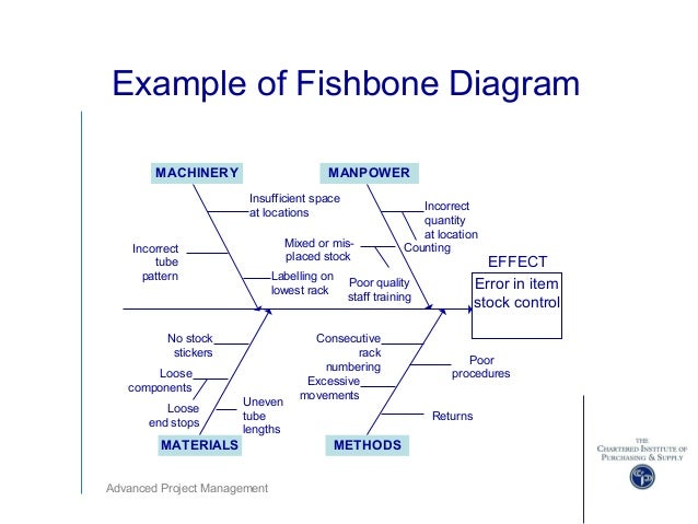 advanced project management ppts   advanced project management example of fishbone diagram