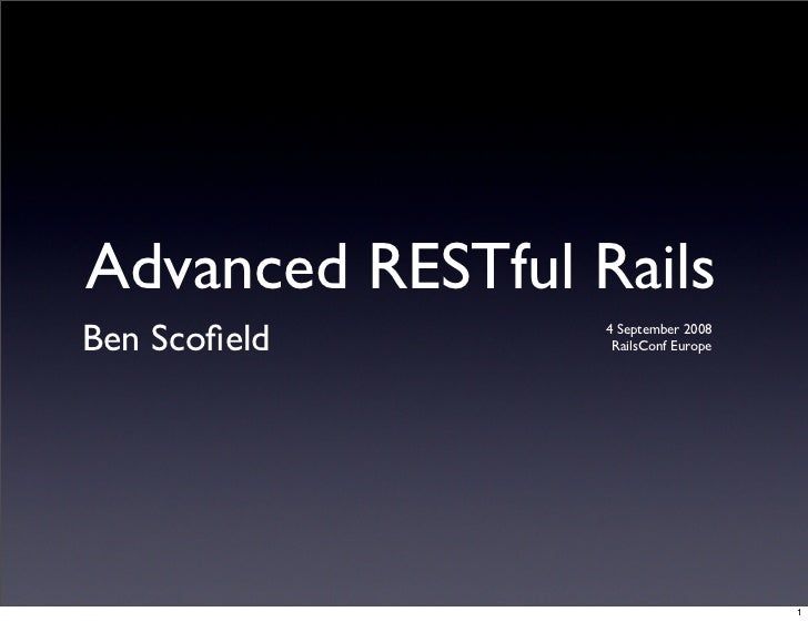 Advanced Restful Rails - Europe
