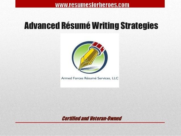 advanced resume writing strategies