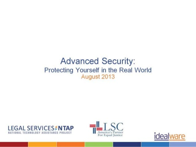 Advanced Security w/ Joshua Peskay by Idealware & Lsntap.org