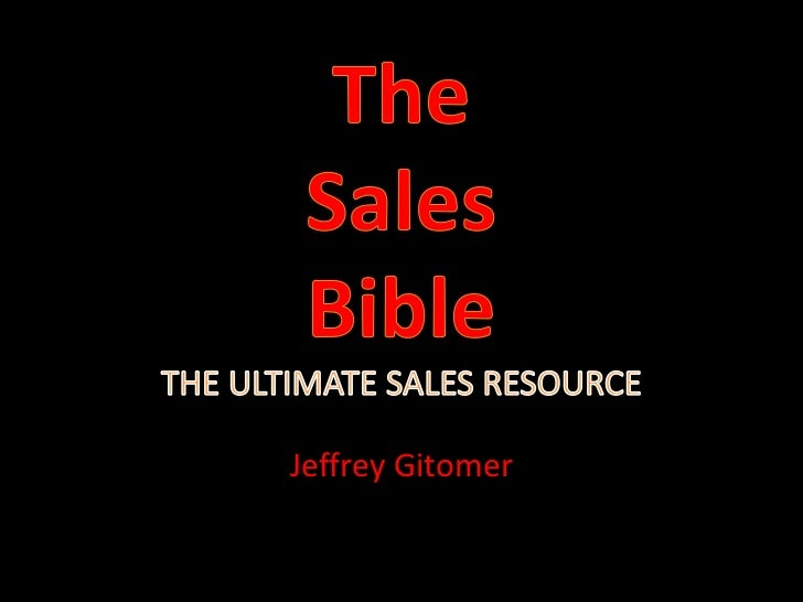 The Sales Bible - Jeffrey Gitomer