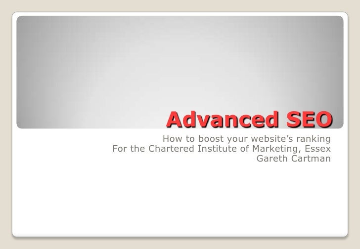 Advanced Seo