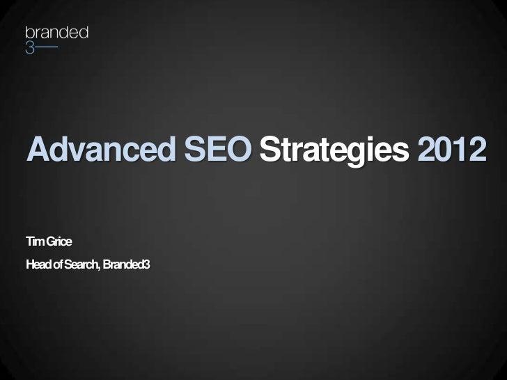Search Marketing Theatre: Advanced SEO Strategies 2012