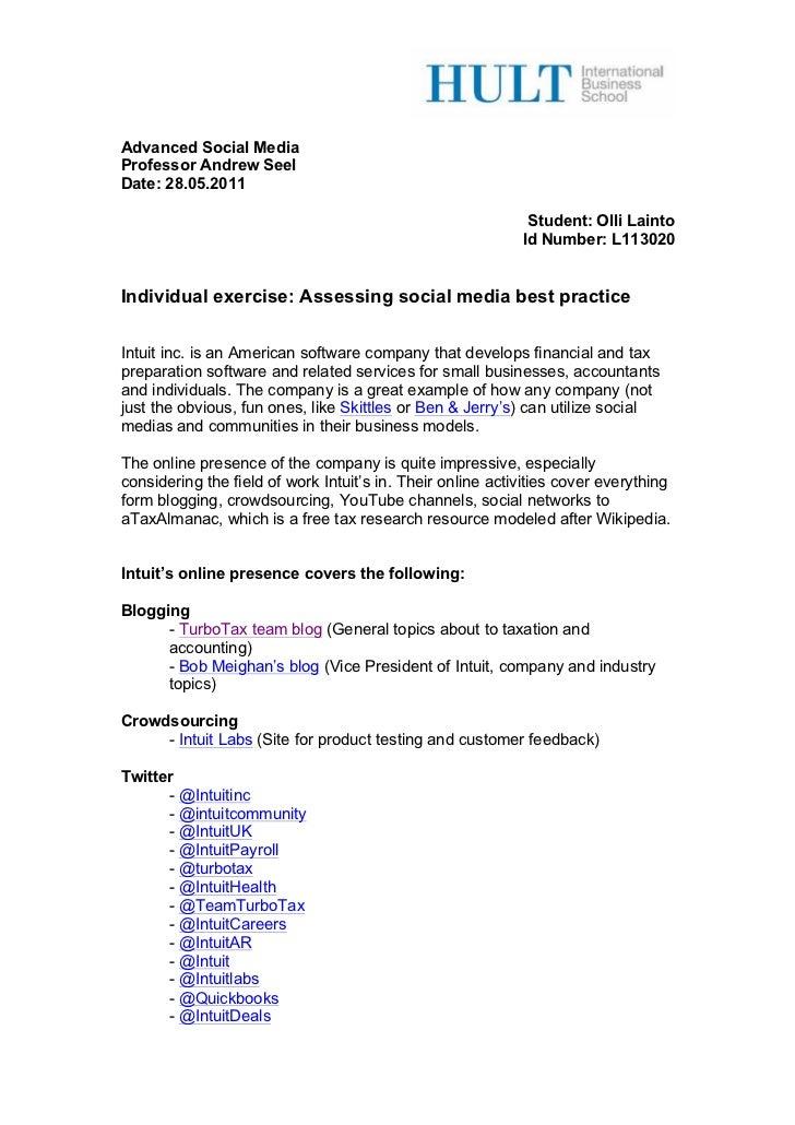 Social Media analysis of Intuit