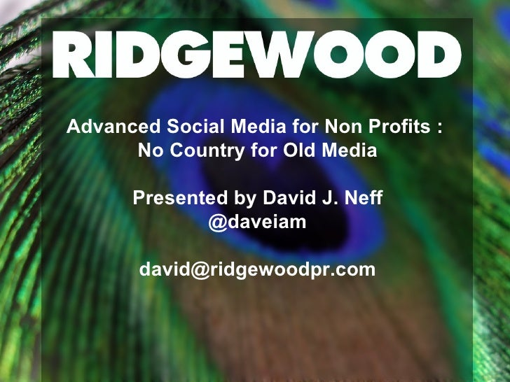 Advanced Social Media Campaigns for Non Profits