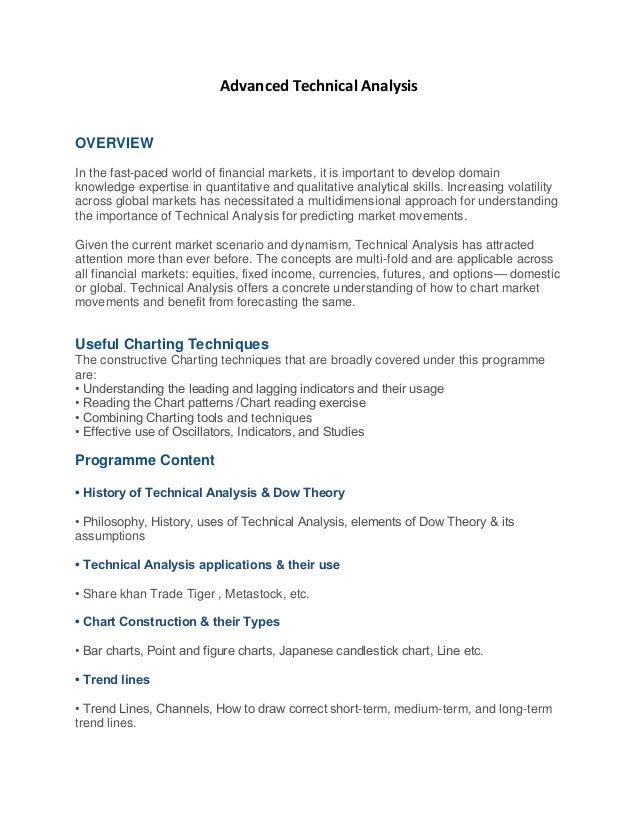 Advanced technical analysis