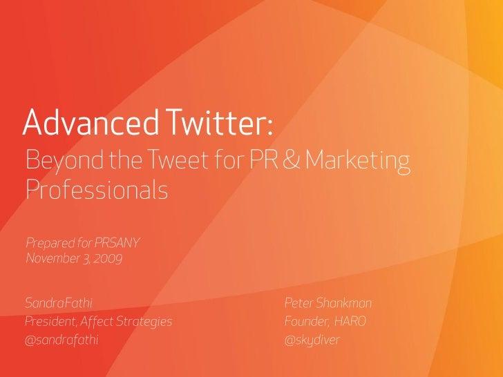 Advanced Twitter Marketing Strategies