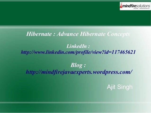 Advance Features of Hibernate