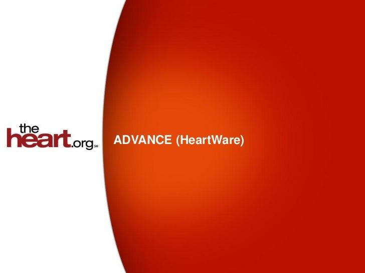 ADVANCE (HeartWare) trial - Summary & Results