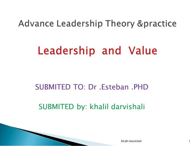 Advance leadership theory &practice.  nahaiepptx