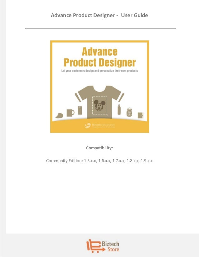 Magento Extension Product Designer