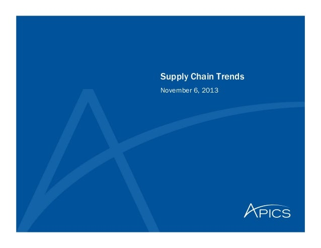 Supply Chain Trends November 6, 2013